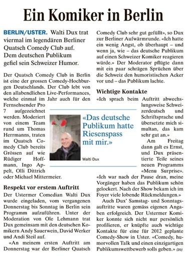 «Ein Komiker in Berlin»