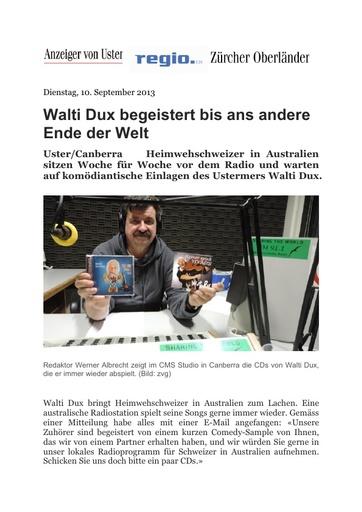 «Walti begeistert bis ans andere Ende der Welt»