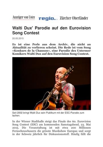 «Dux' Parodie auf den ESC»